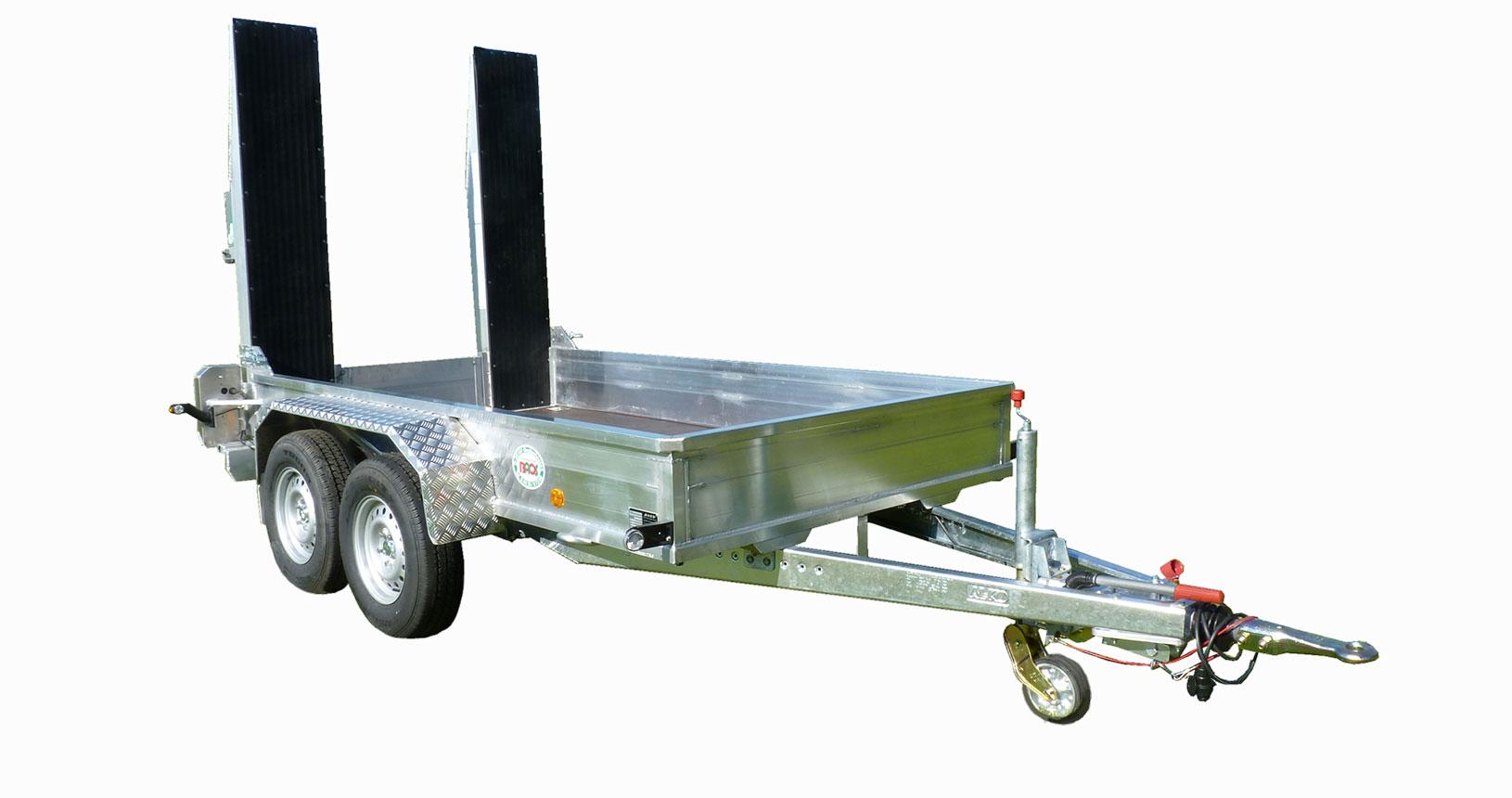 Minibagger Anhänger Walzentransport