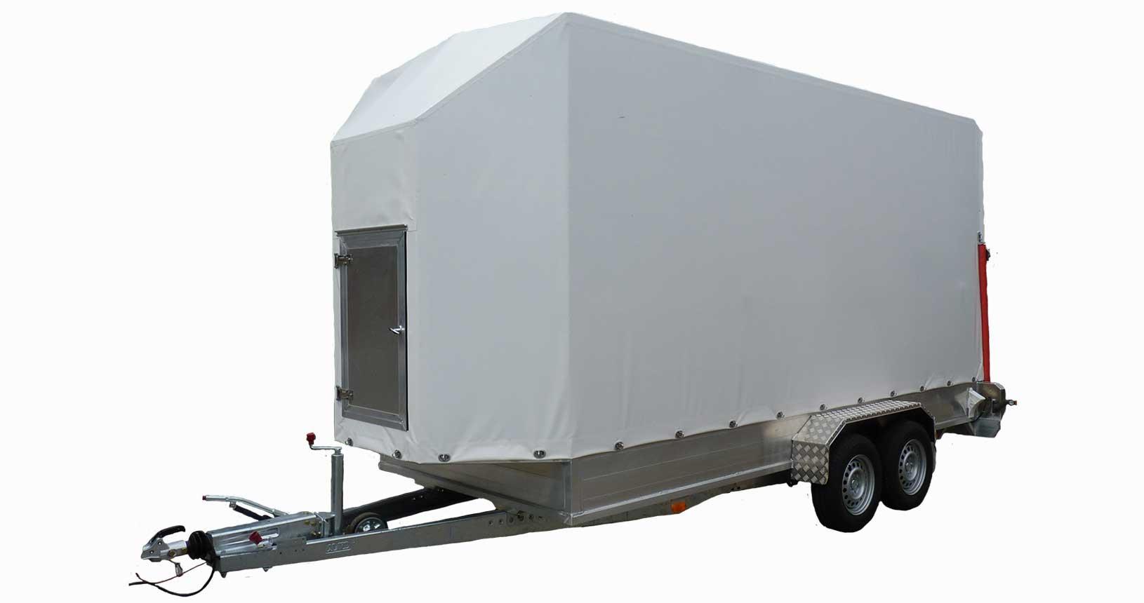 CC-Container Anhänger Tür im Vorbau