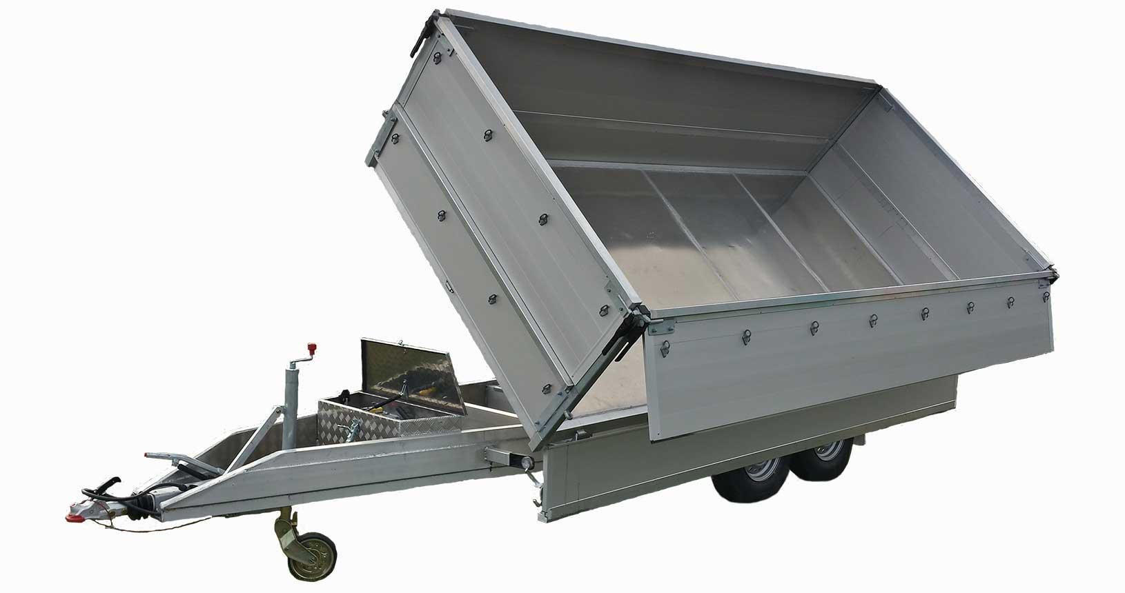 Dreiseitenkipper aus Aluminium 4m
