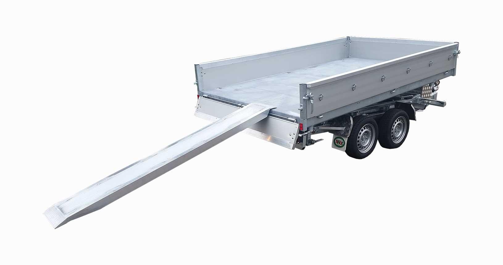 Dreiseitenkipper mit Stahlboden feuerverzinkt