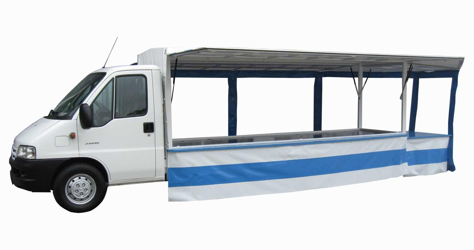 Verkaufsanhänger auf Citroen Fahrgestell