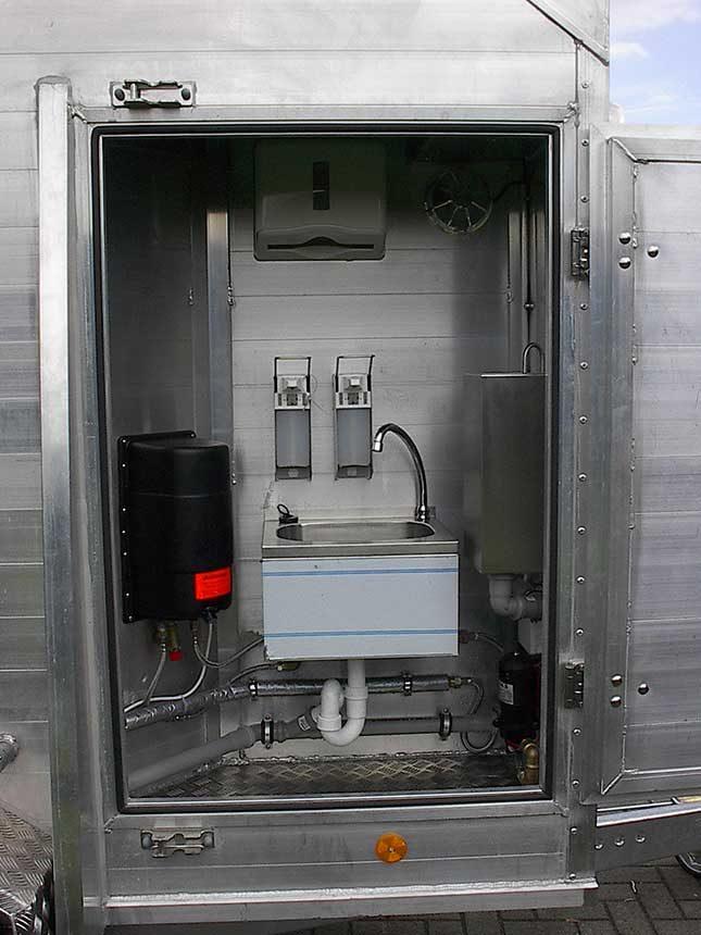 Mobile Schlachtbox Waschgelegenheit