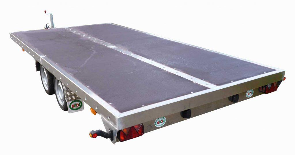 Pritschenanhänger Aluminium Holzboden
