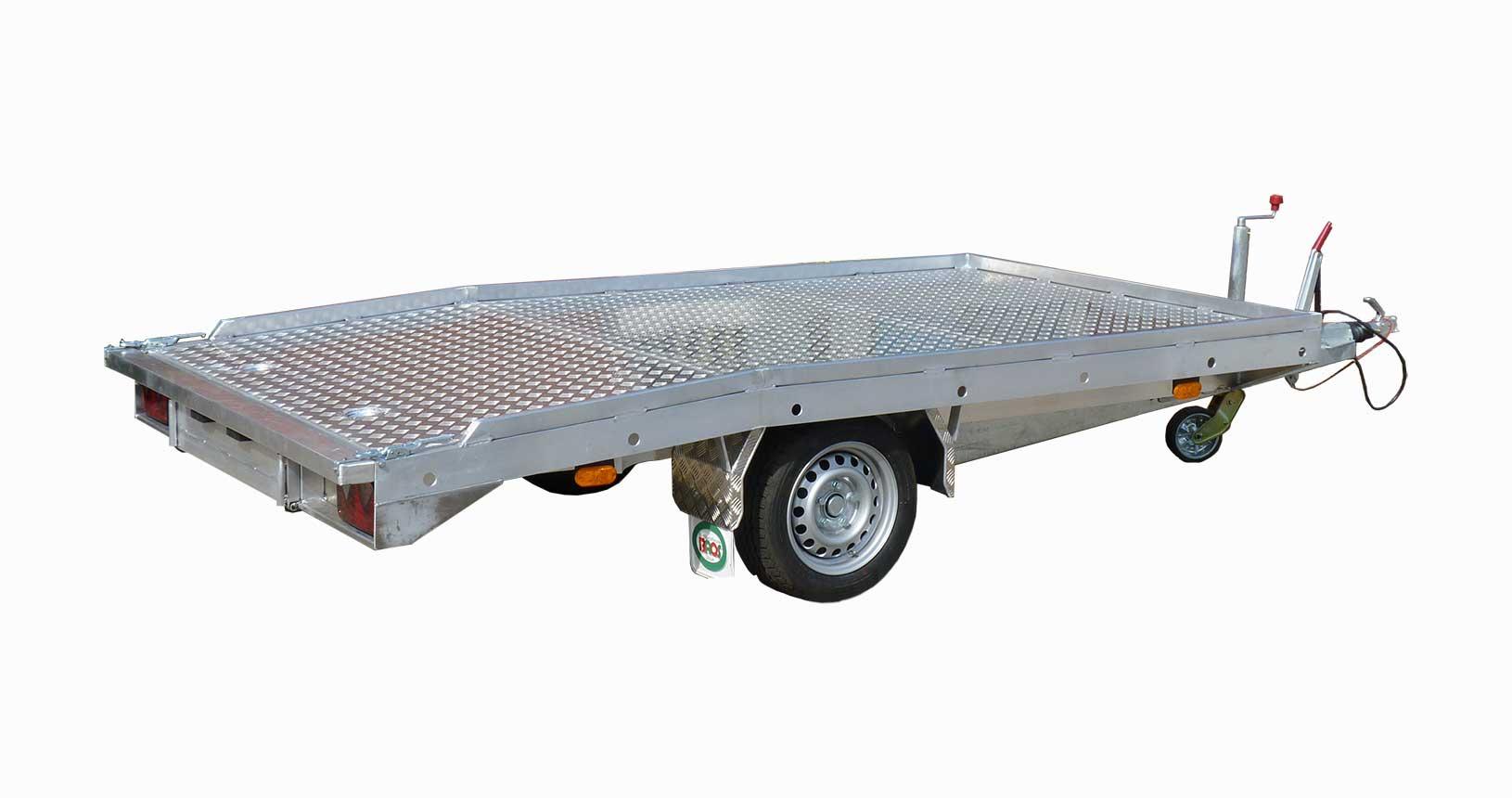 Universaltransporter Einachser mit Abrutschkante