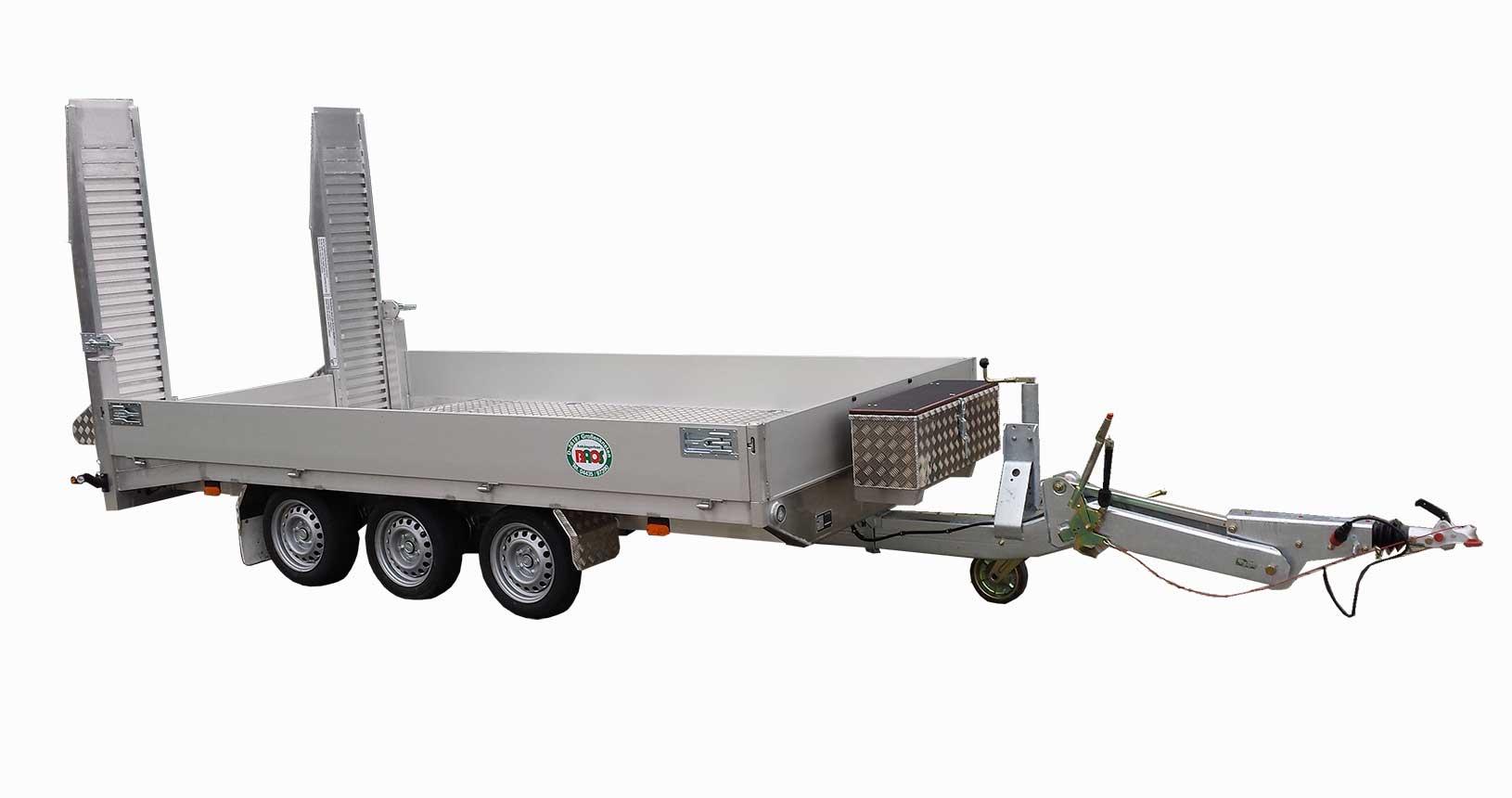 Universaltransporter Tridem mit höhenverstellbarer Deichsel
