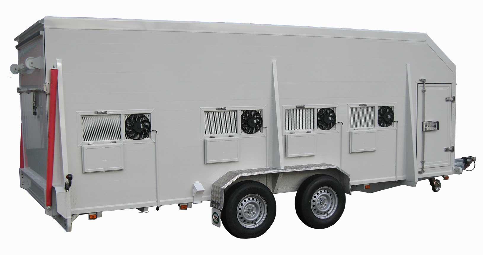 Tiertransporter mit elektrischer Belüftung