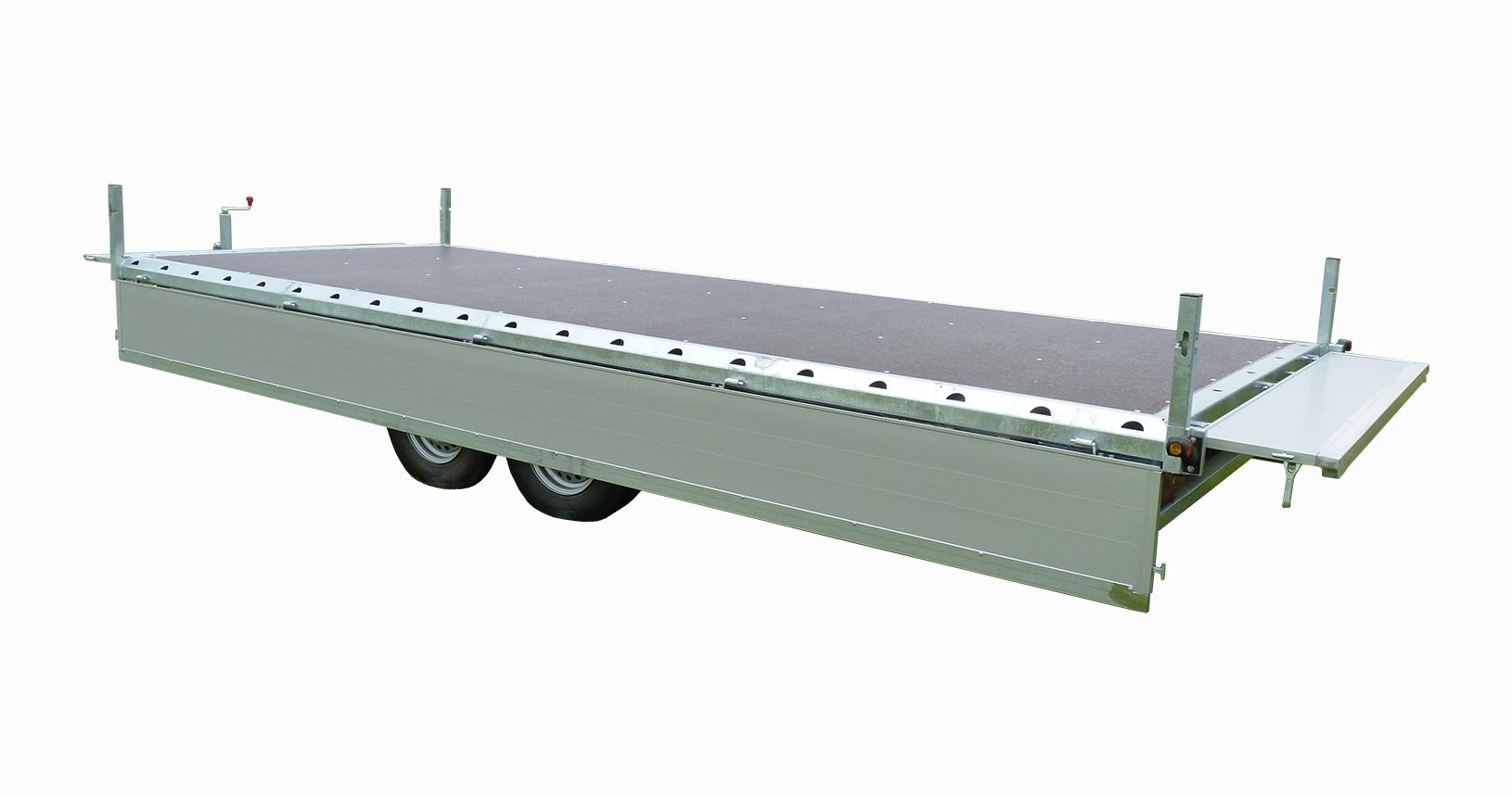 Pritschenanhänger Stahl Zurrsystem im Rahmen